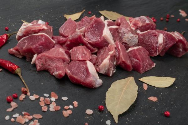 Gulaschfleisch aus Rindfleisch