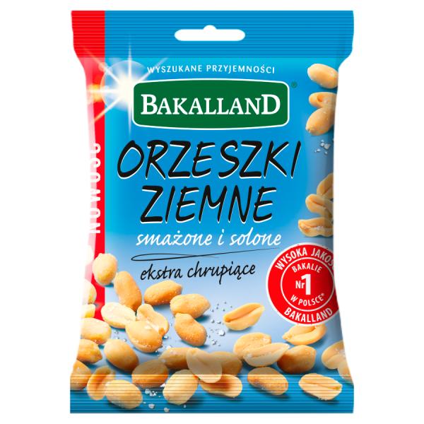 Bakalland Orzeszki ziemne smażone i solone 125 g