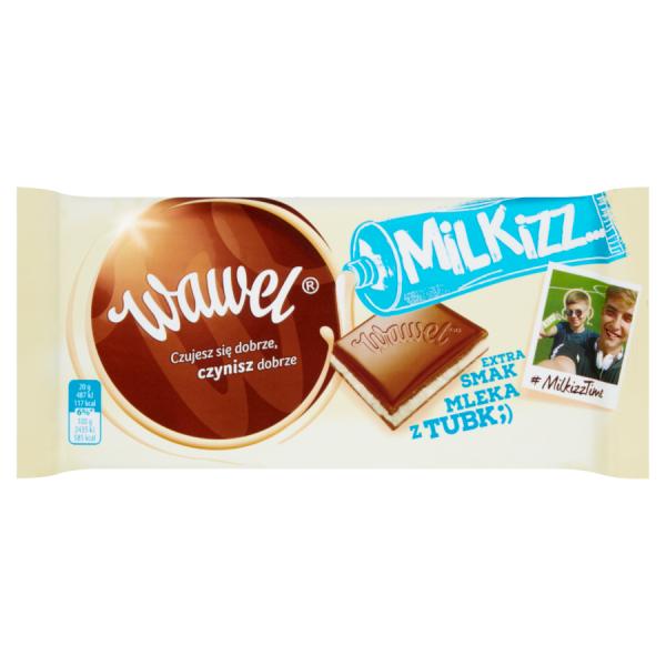 Wawel Milkizz Czekolada mleczna nadziewana 100 g