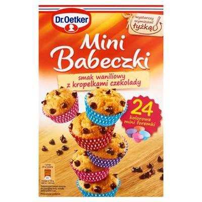 Dr. Oetker Mini Muffins, Vanillearoma mit Schokoladenpulver Tropfen 250 g