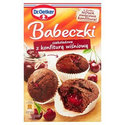 Dr. Oetker Schokoladenmuffins mit Kirschmarmelade Confiture 442 g