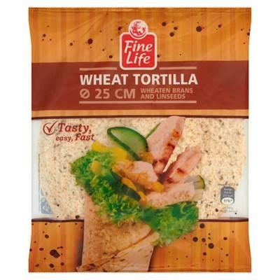 Feine Life Wheat Pfannkuchen mit Weizenkleie und Leinsamen 25 cm 286 g (4 Stück)