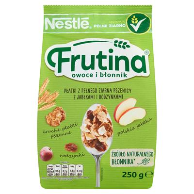 Nestlé Frutina Frucht und Ballaststoffe Vollkornweizenflocken mit Äpfeln und Rosinen 250 g