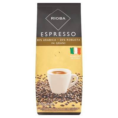 Rioba Espresso gerösteter Kaffee gold 1 kg