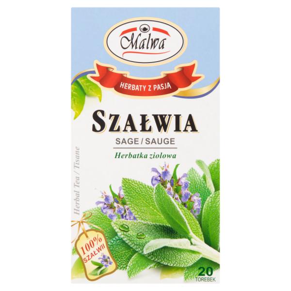 Malwa Herbatka ziołowa szałwia 20 g (20 x 1 g)