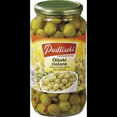 Pudliszki Grüne Oliven mit Paprikapaste 900 g