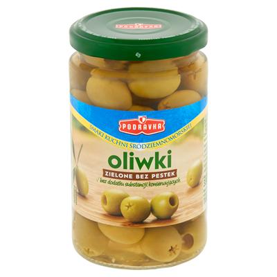 Podravka Gruene Oliven ohne Kerne 330 g