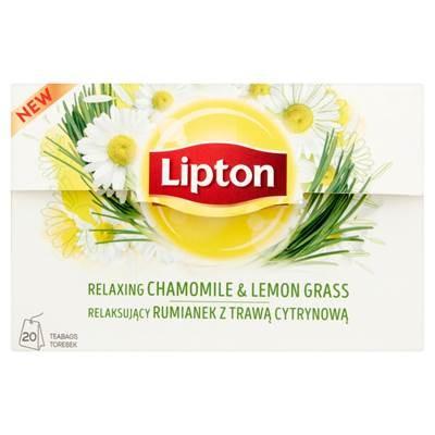 Lipton Entspannende Kamille mit Zitronengras Kräutertee 20 g (20 Beutel)