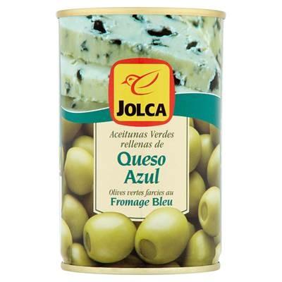 Jolca Manzanilla grüne Oliven gefüllt mit Blauschimmelkäse 300 g