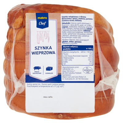 Macro Chef Schweineschinken ca. 1,3 kg vakuumverpack