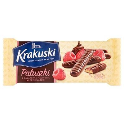Krakuski Himbeergeleestangen in Schokolade 144 g