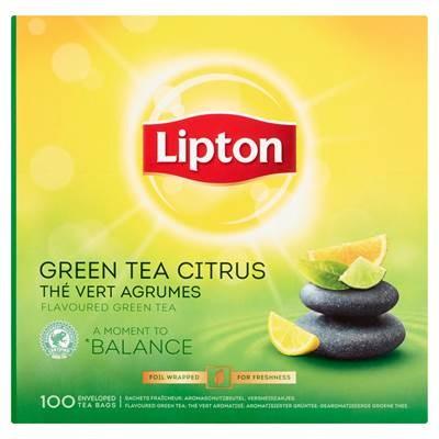 Lipton Grüner Tee mit Zitrusschalengeschmack 130 g (100 x 1,3 g)