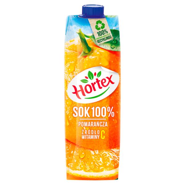 Hortex Sok 100% pomarańcza 1 l