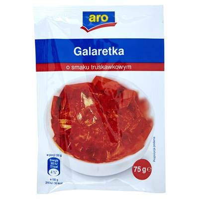 Gelee mit Erdbeergeschmack 75 g 5 Stück