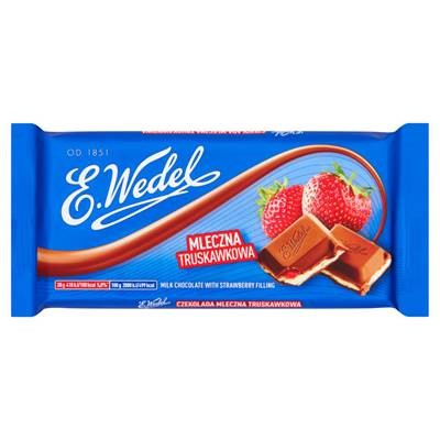 E. Wedel Erdbeer-Milchschokolade 100 g 12 Stück