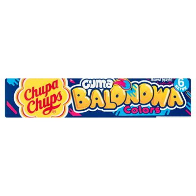 Chupa Chups Colors Kaugummi mit Blaue-Himbeere-Geschmack 27,6 g 20 Stueck