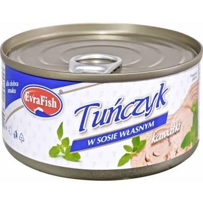 Evra Thunfisch in eigener Sauce 170 g 6 Stück