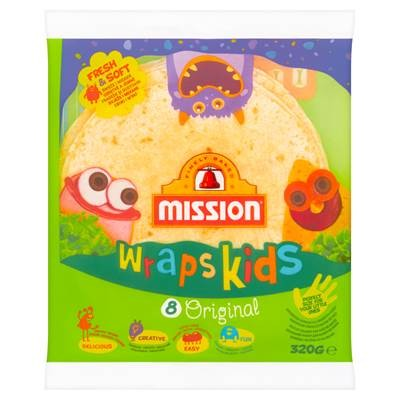 Mission Wraps Kids Original Tortilla aus Weizenmehl 320 g (8 Stück)