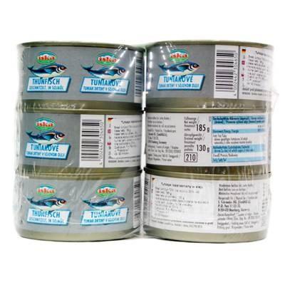 Thunfisch in Öl gehackt 185 g 6 Stück
