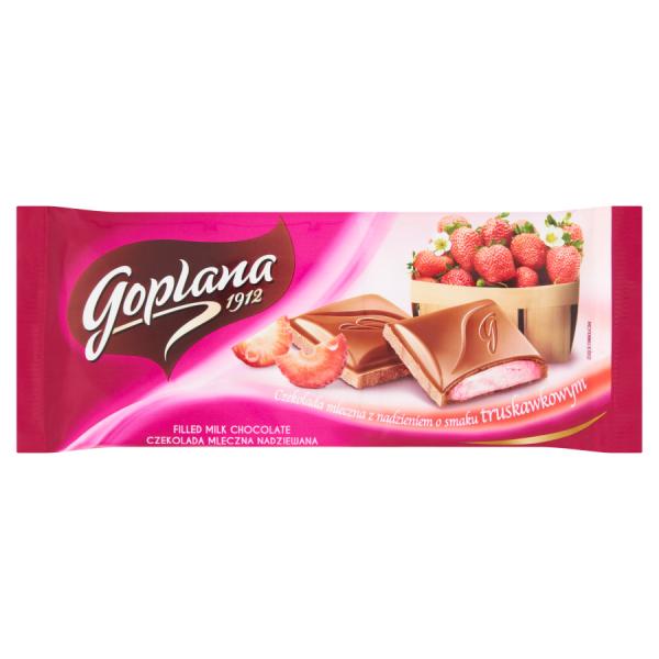 Goplana Vollmilchschokolade mit Füllung mit Erdbeergeschmack 88 g