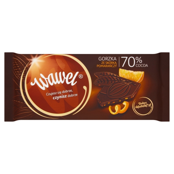 Wawel Bittere Schokolade mit Orangenschale 70% Cocoa 100 g