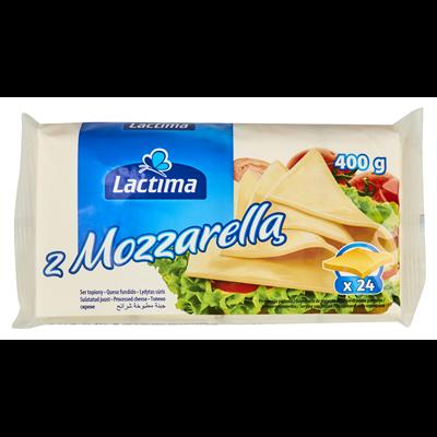 Lactima Schmelzkäse mit Mozzarella, Scheiben 400 g