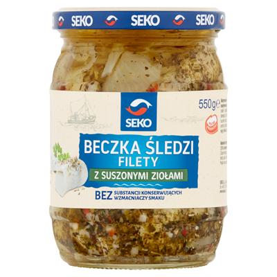 Seko Fass mit Heringsfilets und getrockneten Kräutern 550 g