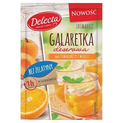 Delecta Gelee-Geschmack von Orangen- und Aprikosenpulver 61 g