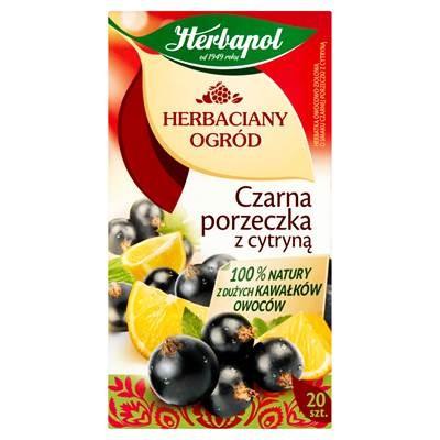 Herbapol Teegarten Schwarze Johannisbeere mit Zitrone Frucht und Kräutertee 54 g (20 Beutel)