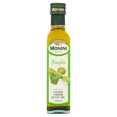 Monini Aromatisiertes Olivenöl extra vergine mit Basilikumgeschmack 250 ml