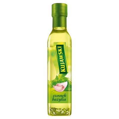 Kujawski Rapsöl extra vergine mit Knoblauch und Basilikum 250 ml