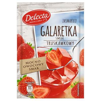 Delecta Gelee Erdbeergeschmack Pulver 75 g