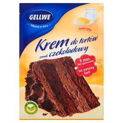 Gellwe Mischung zur Herstellung von Sahnekuchen mit Schokoladengeschmack 140 g