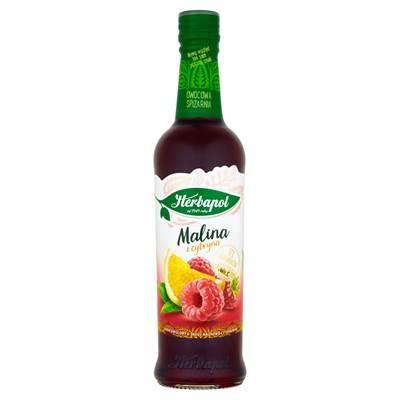 Fruchtsirup Himbeere und Zitrone Herbapol 420ML 8 stück