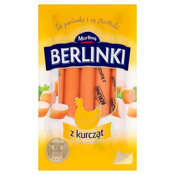 Morliny Berlinki Würstchen aus Hähnchenfleisch 250 g