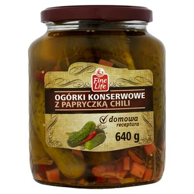 Fine Life Eingelegte Gurken mit Chilischoten 640 g