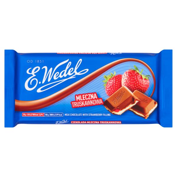 E. Wedel Milchschokolade mit Erdbeere 100 g